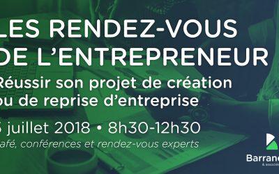 """Le Cabinet Barrandon et associés lance """"Les RDV de l'Entrepreneur"""""""